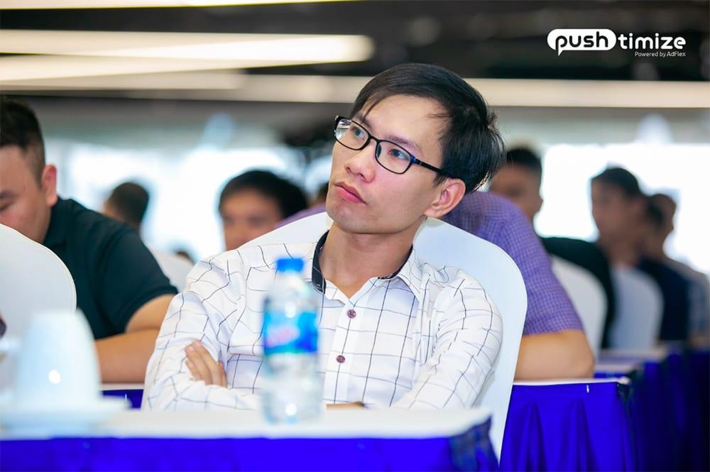 Ông Tình Nguyễn – Nhà sáng lập MarTech tham gia sự kiện ra mắt Pushtimize