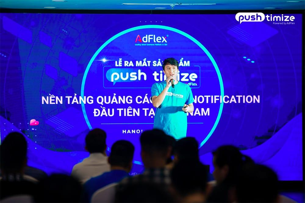 CEO của AdFlex, ông Nguyễn Đăng Hiếu nêu lí do ra đời nền tảng Pushtimize.